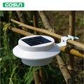 3 led energia Solar da lâmpada ao ar livre iluminação led IP65 prova 6 V 0.5 W alto brilho branco quente/frio branco frete grátis
