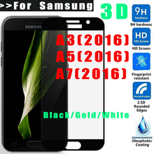 CUUSEY 3D Tempered Glass For Samsung Galaxy  A3 A5 A7 2016 Screen protector for Galaxy A5 2016 glass film Full Screen Coverage