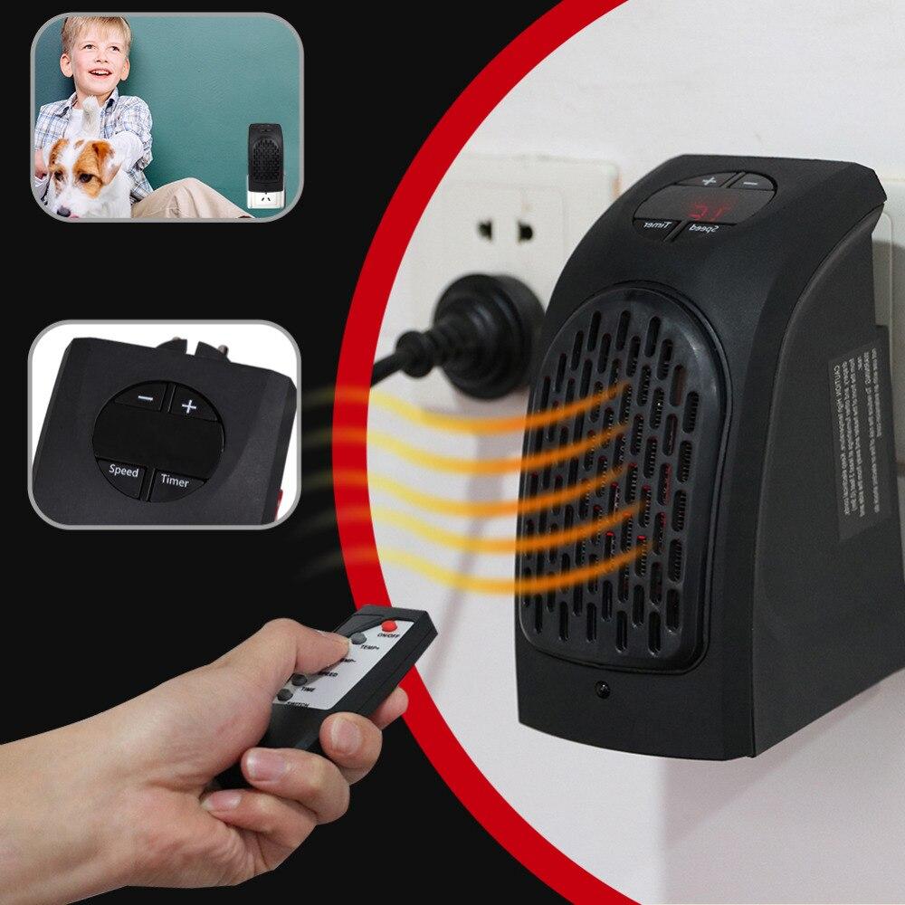 400 W mini aire ventilador calentador de infrarrojos control remoto tiempo calefacción calefactor eléctrico calentador de invierno de aire caliente