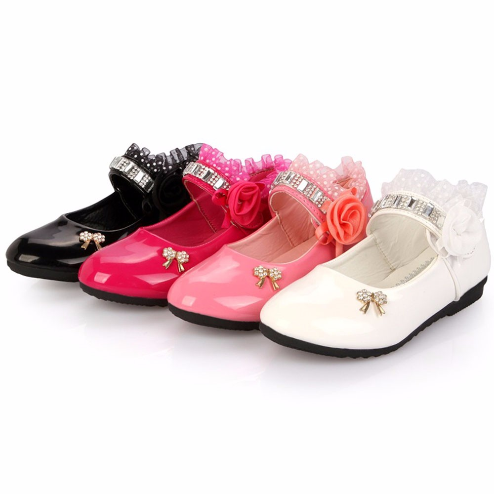 Kids Baby Moccasins Baby Girl Child Shoes PU Leather Rhineston Princess Crib Shoes Newborn Comfy New Born Girl Shoe First Walker