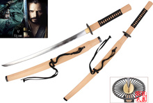 For 47 Ronin Tengu Sword Kai's Last Battle Carbon Steel Katana Prop Replica Full Tang Sharpness Ready Supply