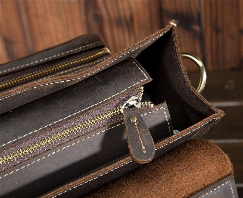 HTB1CXdJbkT85uJjSZFhq6APEVXa0 Top Grade Male Men's Vintage Real Crazy Horse Leather Briefcase Messenger Shoulder Portfolio Laptop Bag Case Office Handbag 1061