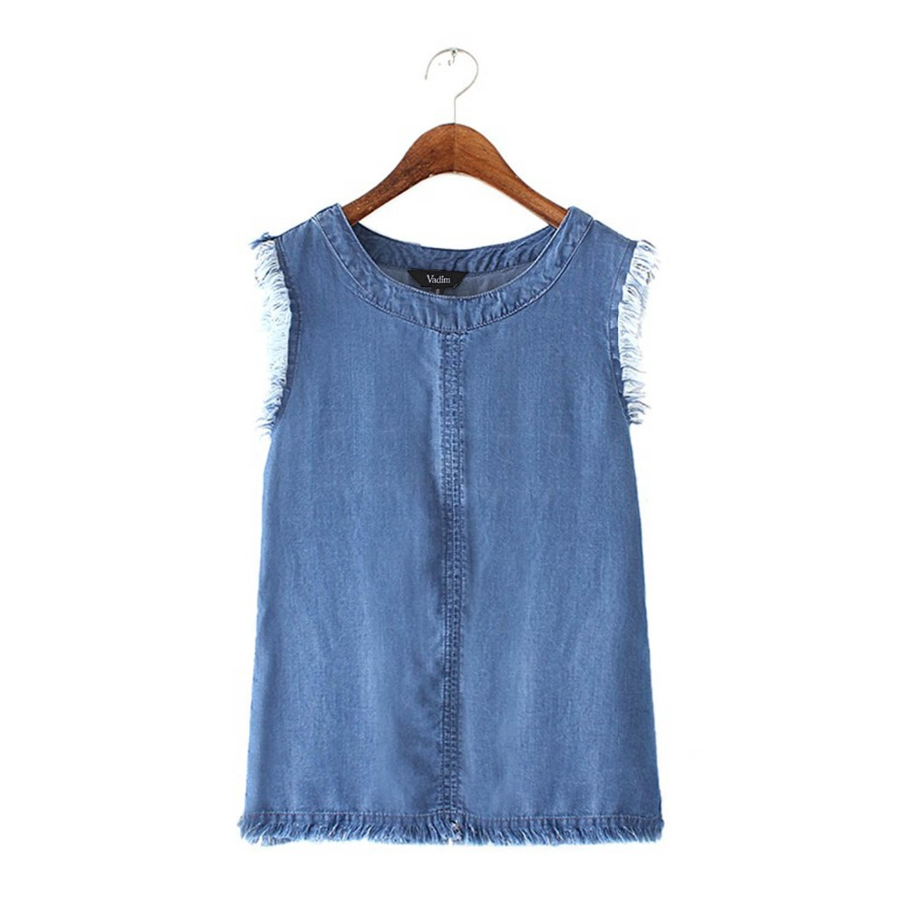 Compare Prices on Denim Sleeveless Blouse- Online Shopping/Buy Low ...