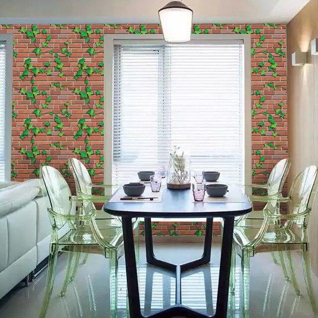 45*100 Cm Rustikalen Wirkung Ziegel Stein Wand Papier Selbstklebende  Wandaufkleber PVC Ivy Wandtattoos Papiere