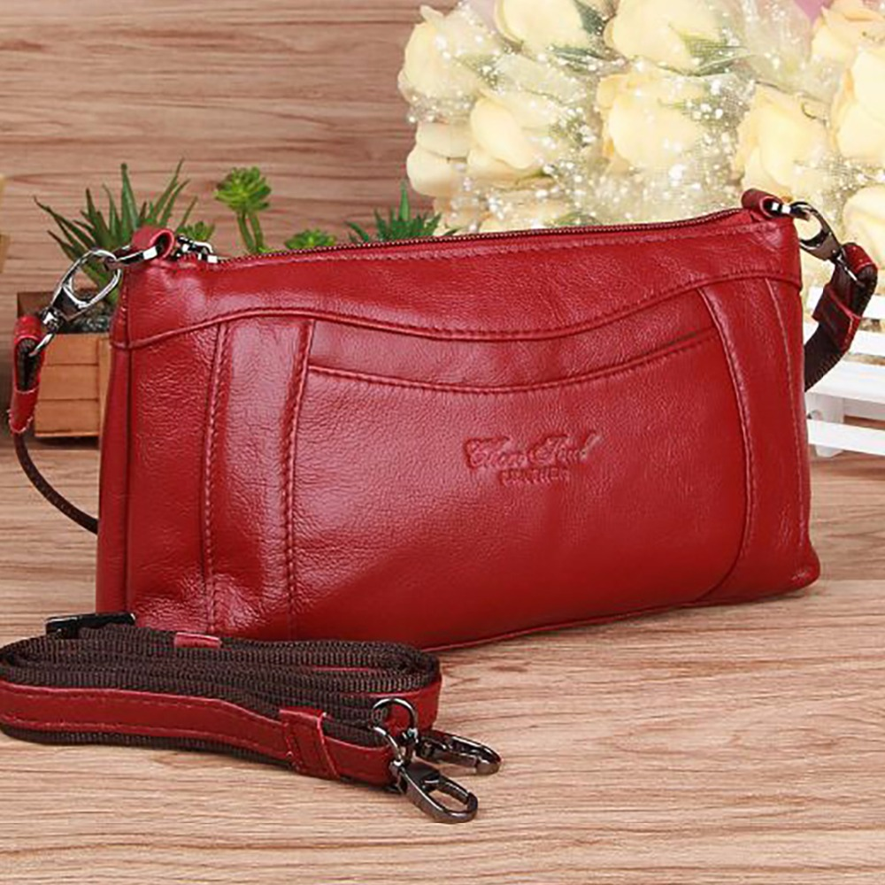 Real Cowhide Genuine Leather Messenger Single Shoulder Bag Women Fashion Casual Small Tote Bags Famous Brand Ladies Handbag New