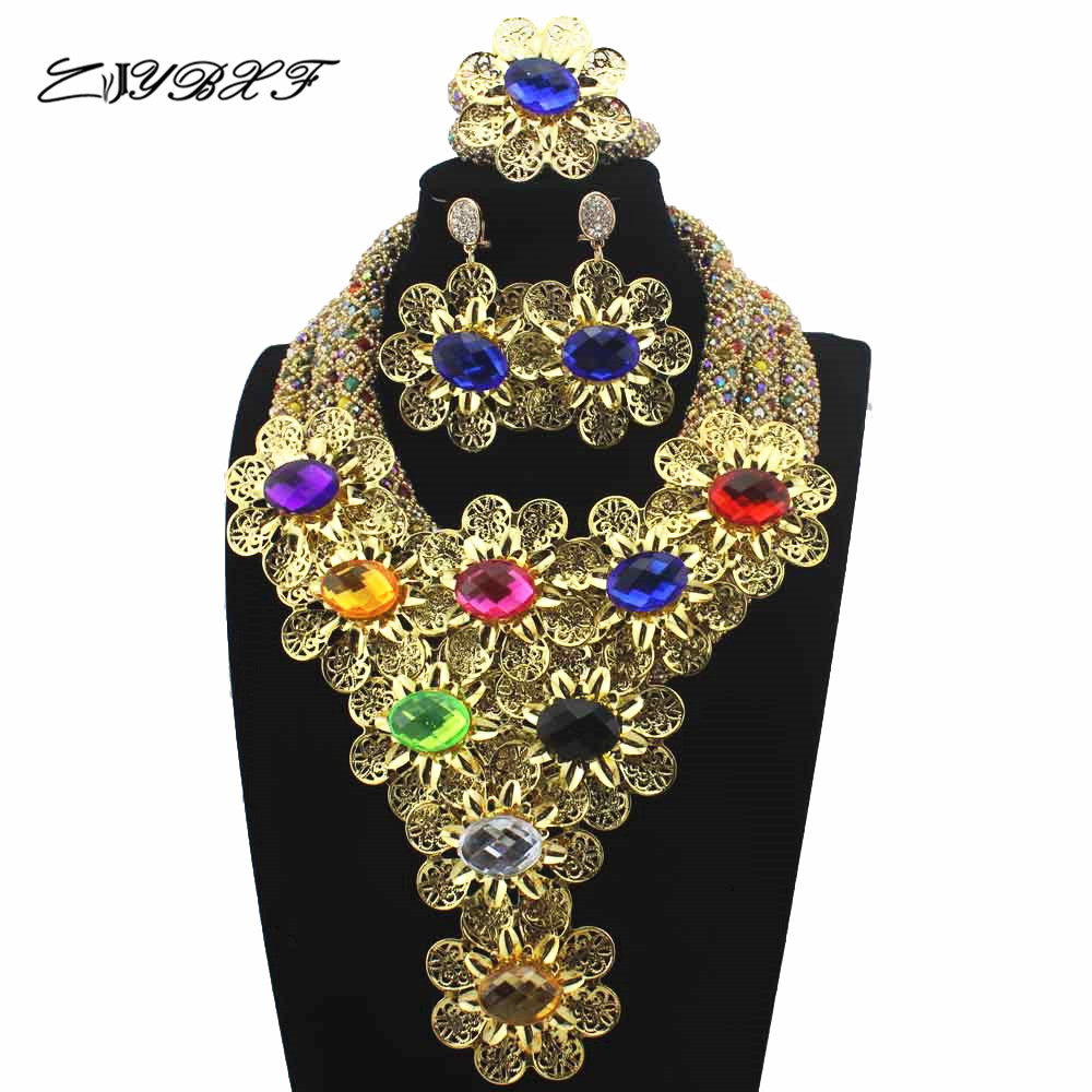 New Christmas Mix/Masquerade Plated African Beads Jewelry Set Flowers Chunky Statement Necklace Set for Brides Free Ship HD8822New Christmas Mix/Masquerade Plated African Beads Jewelry Set Flowers Chunky Statement Necklace Set for Brides Free Ship HD8822