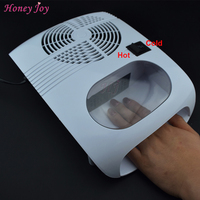 Nuevo Blanco de Aire Caliente y Frío Secador Del Ventilador de Manicura de Uñas para secado de Uñas de Acrílico y Belleza Herramienta de Color 220 V Enchufe de LA UE ventilador
