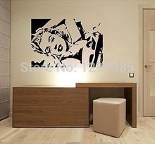 Marilyn Monroe Silhouette Wall Vinyl Stickers Art Decal Reusable & Removable Decal 2017 fashion custom made Free Shipping poster