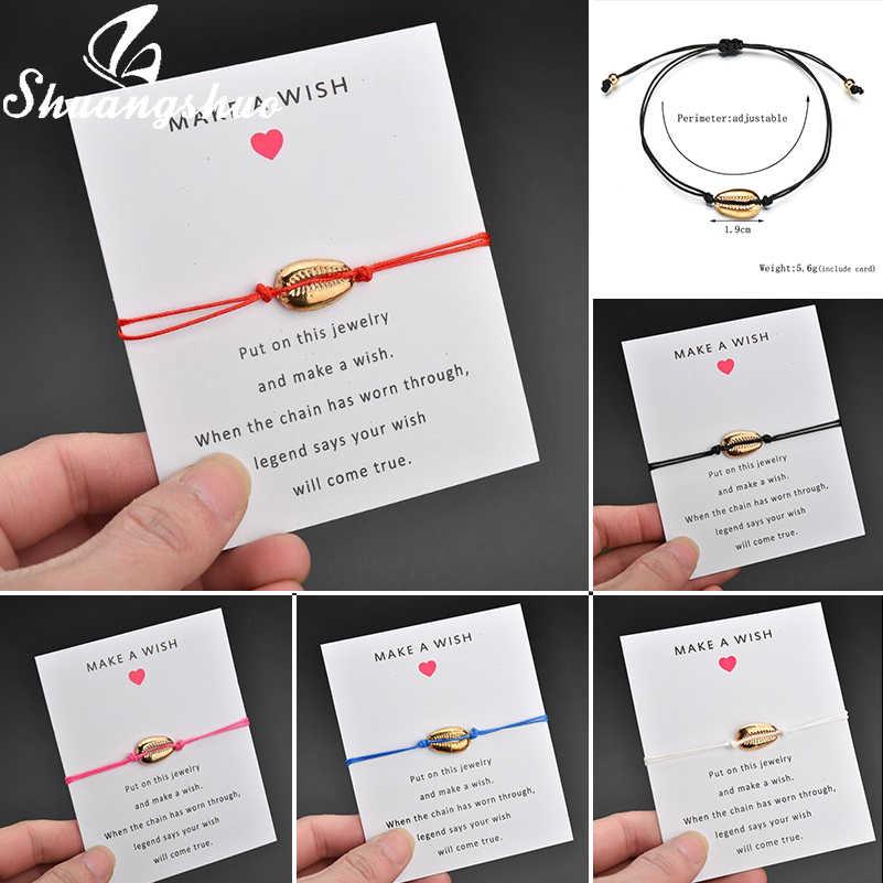 Shuangshuo Muscheln Halskette Natürlichen Muschel Halsketten Anhänger Für Frauen collier coquillage Böhmischen Strand Shell Schmuck