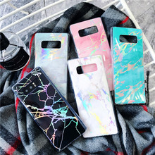 For Samsung Galaxy S8 S9 S7 Plus Edge High Quality Glossy TPU Case Glitter Marble Phone Cover Note 8 9