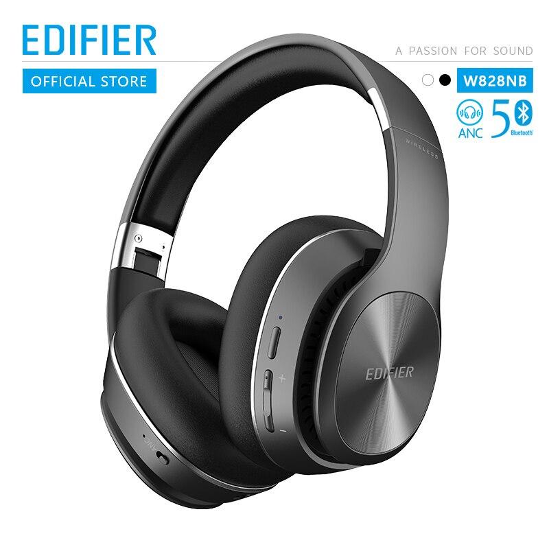 Edifier w828nb bluetooth fones de ouvido função anc até 25 horas de reprodução design dobrável sem fio fone de ouvido