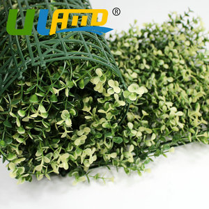 Decorative Artificial Boxwood Hedge Panels 24pcs 25cm by 25cm Plastic Privacy Ivy Fence Fake Plants Fencing For Garden G0602A006