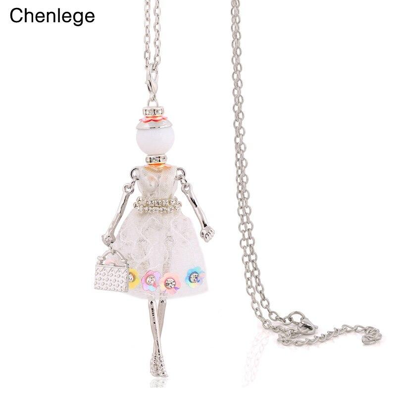 chenlege women long chokers big necklace boho chains ...