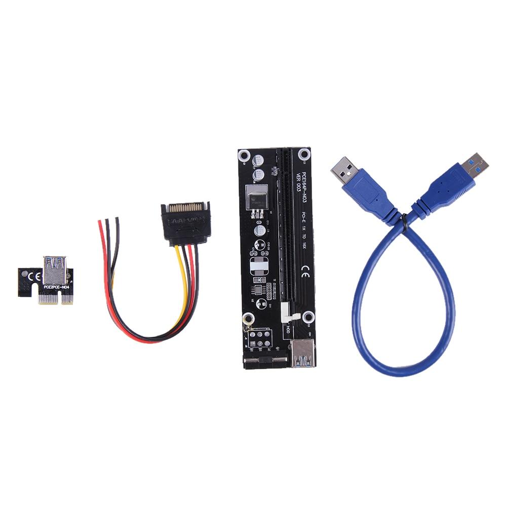 PCI-E PCI E Express 1x to 16x graphics Card Riser Extender Adapter with 4pin molex power For Bitcoin BTC Miner Machine 30cm
