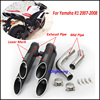For Yamaha R1 2007 2008 Slip On Motorcycle Exhaust Full System Pipe Dual Outlet Exhaust Aluminum
