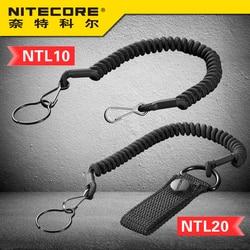 1 PC Harga Nitecore NTL10 NTL20 Senter Taktis Berlubang Kabel Stainless Steel Cincin Baja Keamanan Kabel untuk 25,4 Mm dia