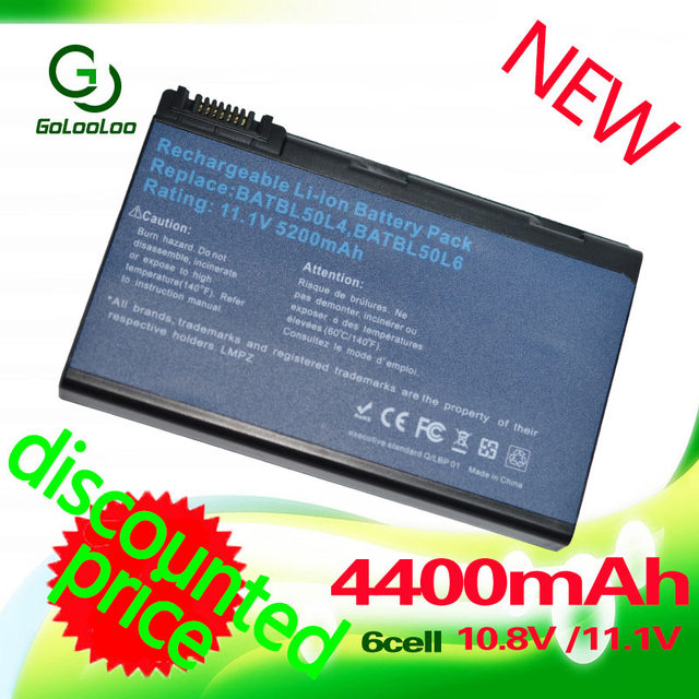 Golooloo for Acer Travelmate BATBL50L6 2490 2450 3900 4200 4230 4260 4280 5510 5210 BATBL50L4 BATBL50L8H BATCL50L BATCL50L6