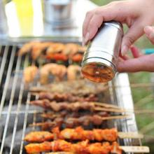 7.6*5cm New Stainless Steel Spice Shaker Sugar Salt Pepper Herbs Toothpick Storage Bottle Cooking Barbecue Tool