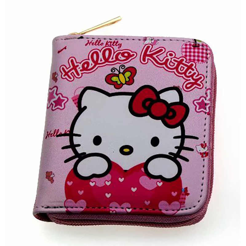 c7378338a7 Lovely Cute Cartoon Hello Kitty Wallet Women Leather Purse Gifts Ladies  Girls Card Coin Holder Bags