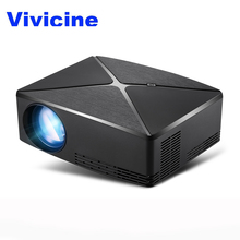Vivicine C80/C80UP Portable LED Mini Projector,Optional WIFI android Bluetooth HDMI USB Home Theater Video Game Projector Beamer