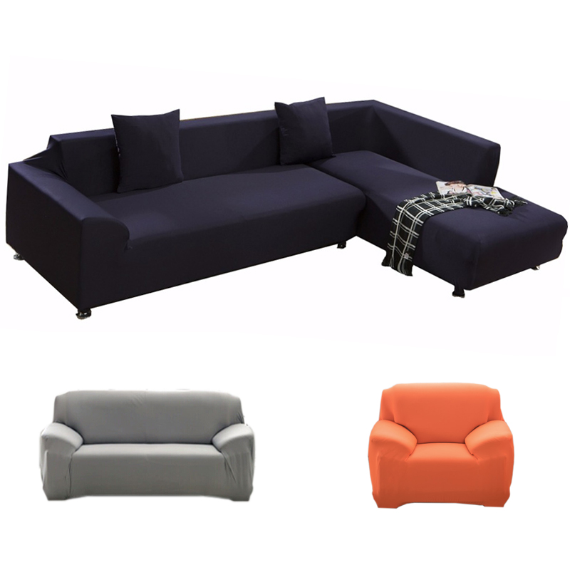 Sofa Cover Big Elasticity 100% Polyester Spandex Stretch Couch Cover Loveseat Sofa Towel Furniture Cover Machine Wash 17 Colors