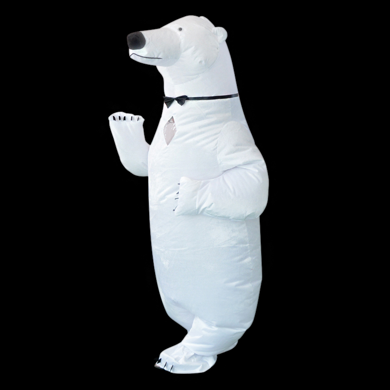 Ours polaire Costume gonflable mascotte adulte intéressant Costumes Animal noël Halloween fête d'anniversaire Cosplay Costume