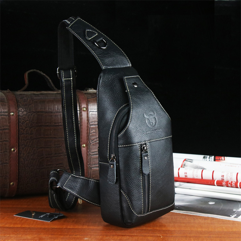 2016 New Arrival Fashion Genuine Leather Chest Pack Brand Design Casual Men Messenger Bags Vintage Small Shoulder Bags bolsos