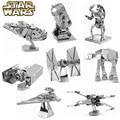 8 Unids/set Star Wars Metal 3D Ensamblar Del Rompecabezas Para Los Niños diy rompecabezas iq cerebro x-wing en combate educativos niños juguetes