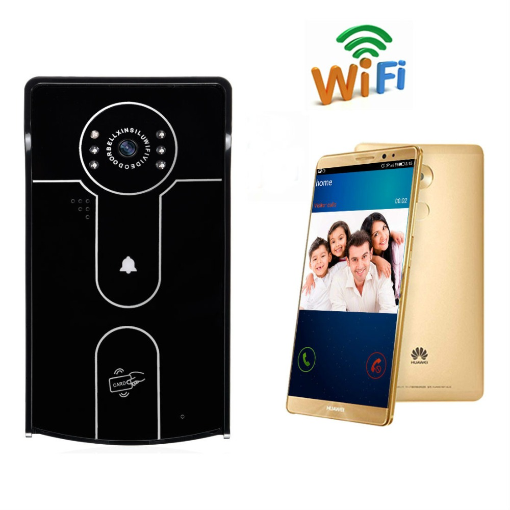YobangSecurity Wireless Wifi Video Door Phone Doorbell Intercom Entry System IP Camera Remote unlocking,Recording RFID Keyfobs yobangsecurity video door intercom entry system 2 4g 9 tft wireless video door phone doorbell home security 1 camera 2 monitor