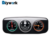 DIYWORK 3 in 1 Guide Ball Compass Thermometer Hygrometer For Auto Boat Vehicles