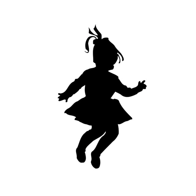 Silhouette Little Girl Dancing - 20.0KB