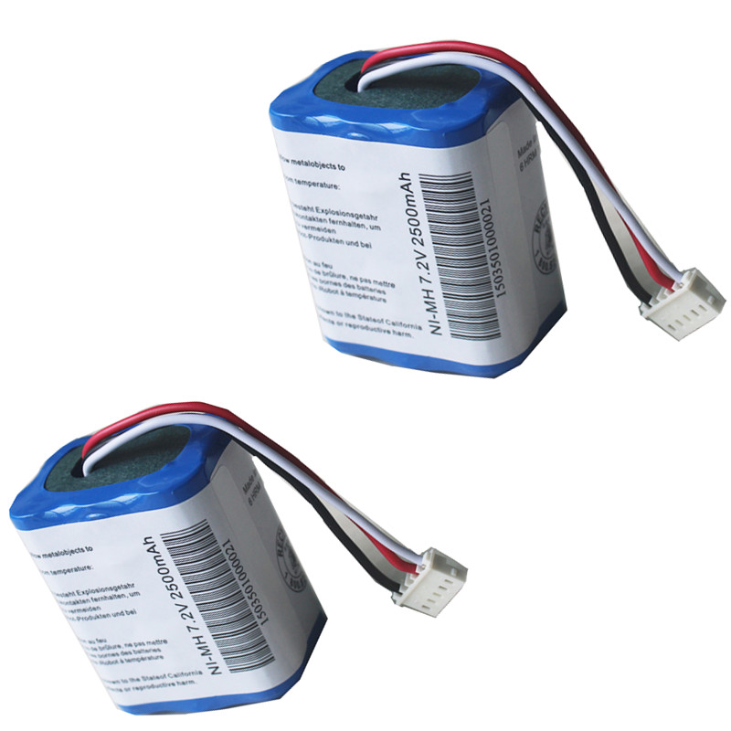 2 pcs For iRobot Mint 5200 5200C Braava 380 380T Robot Vacuum Cleaner Battery 7.2V 2500mAh Ni-MH Rechargeable Batteries hot sell