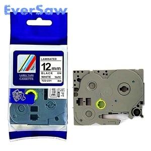 Image 3 - 5 PACK TZe 231 brother tze tape Black on White Tape 12mmx8M TZ 231 TZE 231 Compatible for Brother TZ PT H105 PT550 PT1000