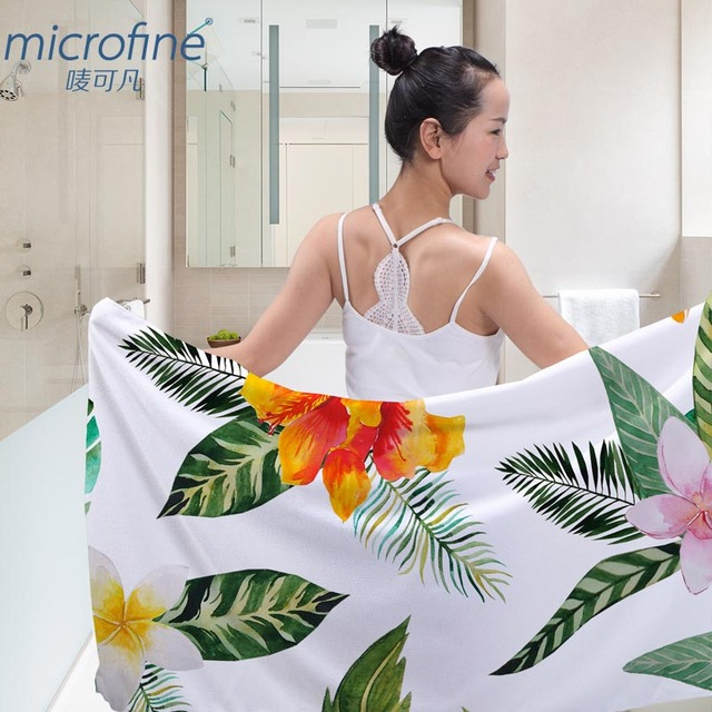 Microfine Printed Microfiber Beach Towel Brand Fast Drying