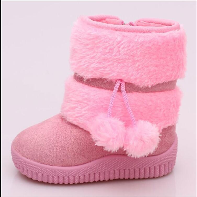 comprar online e493c c970e € 5.9 35% de DESCUENTO|Botas de invierno para niños, botas de nieve para  niños, botas de nieve para niñas y niños con relleno de algodón botas-in ...