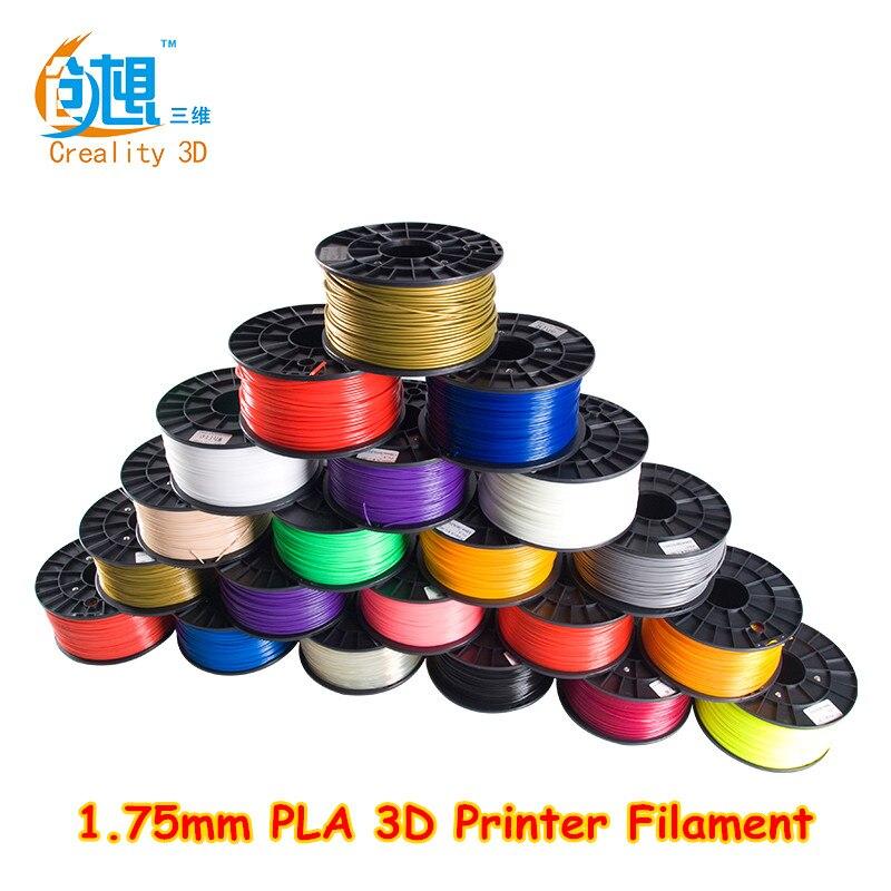 ФОТО Creality 3D Printer Filament PLA 1.75mm 12kg 12 Colors Plastic Consumables Material Various Colours For You Choose PLA Filament