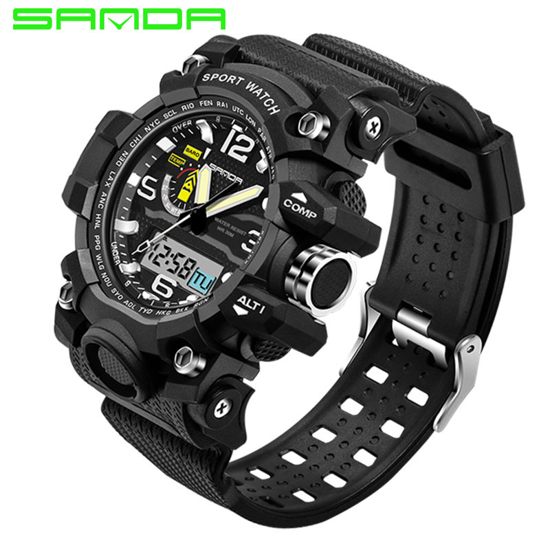SANDA 732 Sport Military Army Watches Men Waterproof Chronograph Clock For Men Wrist Watches horloges mannen relogio masculino the eagles