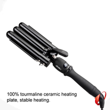 CHJ Professional Curling Iron Ceramic Triple Barrel Hair Styler Waver Styling Tools 110-220V Curler Electric