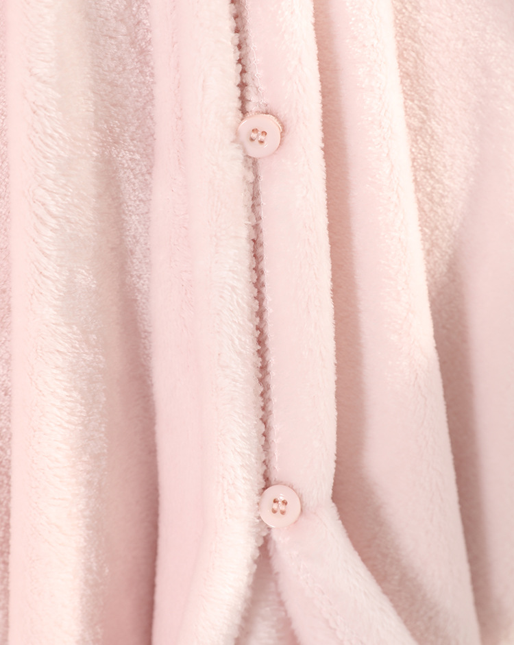 Cute Pink Comfy Blanket Sweatshirt Winter Warm Adults and Children Rabbit Ear Hooded Fleece Blanket Sleepwear Huge Bed Blankets 162