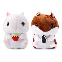 Kids Backpack Lovely Plush Animals School Bag Stuffed Hamsters Doll Backpack Stuffed Shoulders Bag