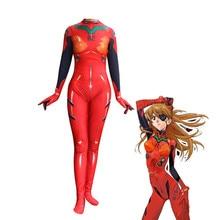 Rebuild of Evangelion Asuka Langley Soryu Jumpsuits Cosplay Costume Zentai Suit Bodysuit