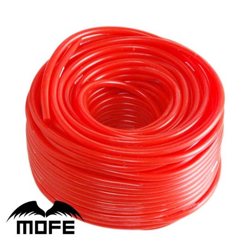 Mofe sıcak satış 100% silikon kırmızı 5M iç çap: 3 MM/5 MM vakum hortumu silikon