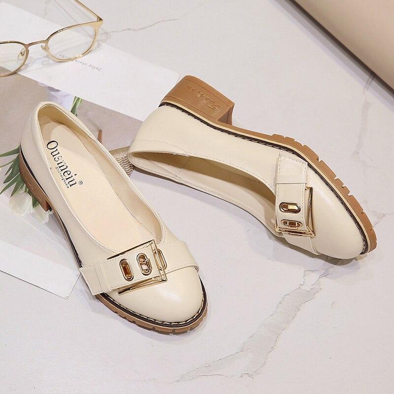 Des Femmes Sauvage Casual Britannique La Avec Coréenne Harajuku Nouveau Version Style Printemps Chaussures Simples De Belle Beige nSgp8