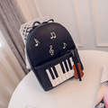 2016 New Fashion Piano Musical Printing Backpack Casual Backpacks for Teenage Girls Travel Students School Rucksack Mochilas