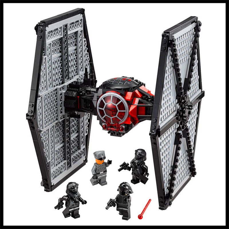 Lepin 562Pcs Building Blocks Toy TIE Fighter DIY Assemble Figure Educational Brick Brinquedos For Children Compatible Legoe