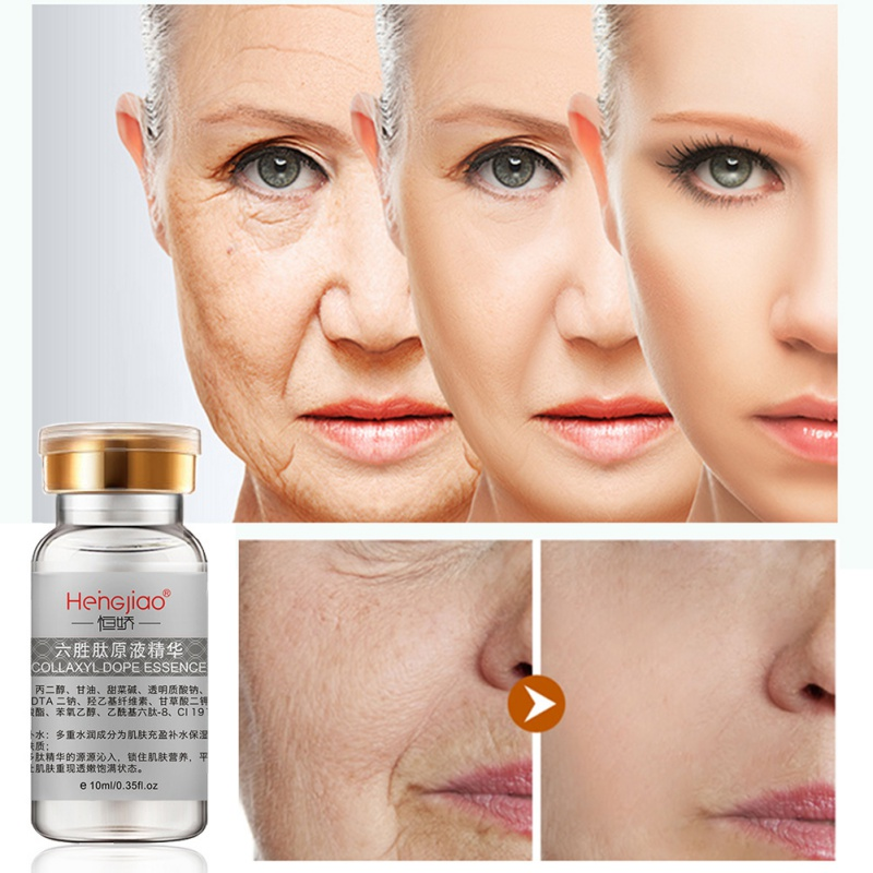 Hot Six Peptides Serum For Face Anti Wrinkle Cream Argireline Collagen Liquid Anti Aging Face Lift Skin Care  Whitening