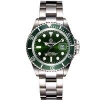 Reginald 40mm Men Watches GMT Sapphire Crystal Top Brand Watch 2018 Diver Watch Quartz relogio masculino Role Luxury Watch Men