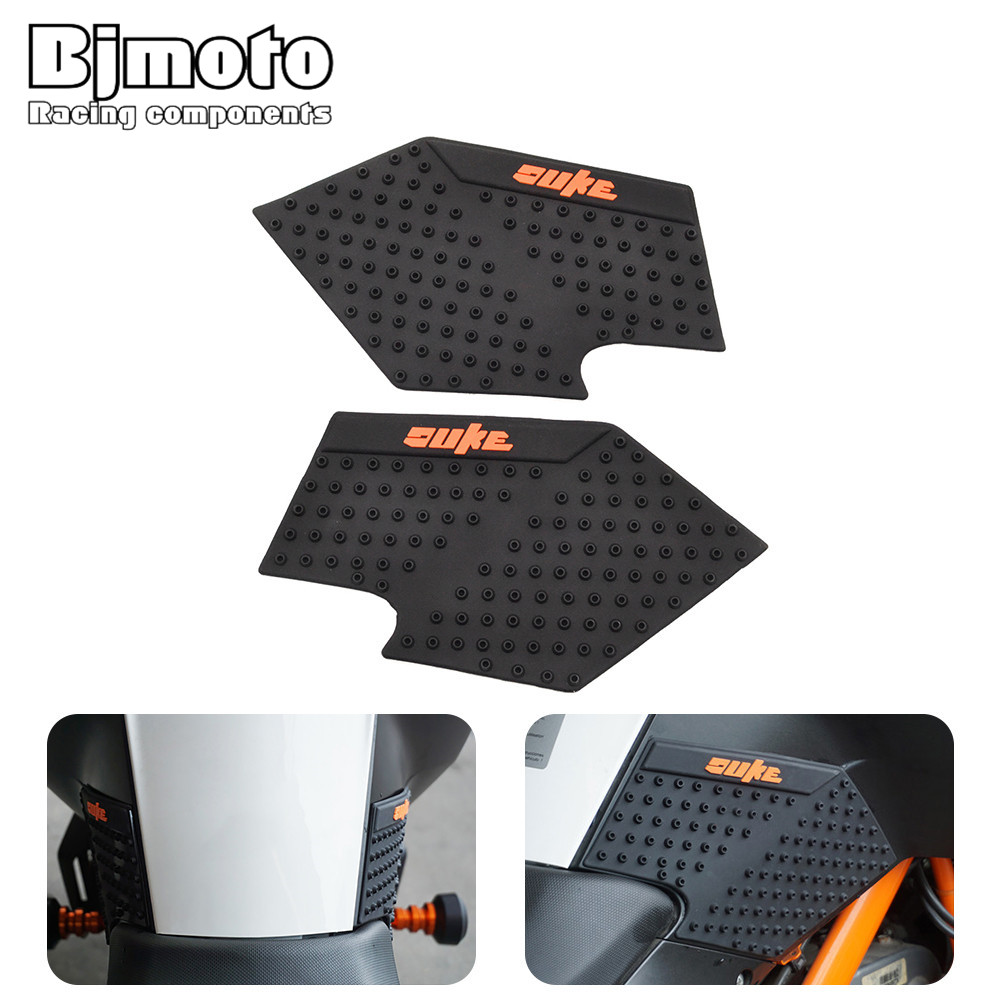 New Motorcycle Tank Pad Protector Sticker Decal Gas Fuel Knee Grip Traction Side For KTM DUKE 390/200/125 ALL YEAR tank pad protector sticker decal gas knee grip tank traction pad side 3m for honda cbr1000rr cbr 1000 rr 2008 2009 2010 2011