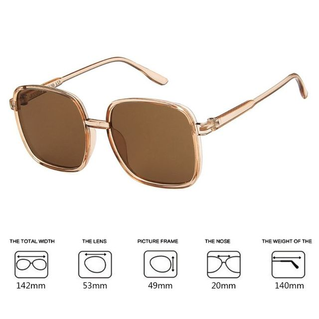 a01895286c Square Sunglasses Classic Fashion Female Men Women Vintage Large Frame HD  UV400 Driving Outdoor Eyes Protection