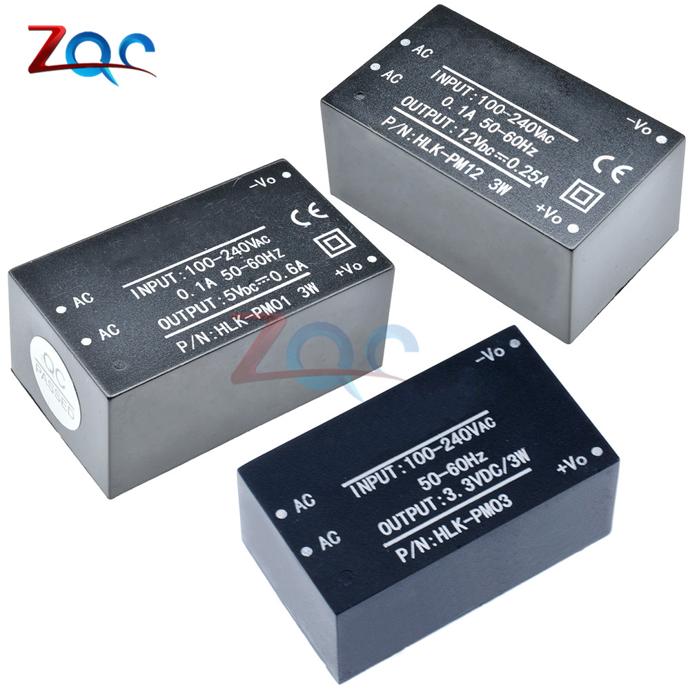 HLK-PM01 HLK-PM03 HLK-PM12 AC-DC 220V To 5V/3.3V/12V Mini Switch Switching Power Supply Step Down Buck For Intelligent Household